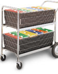 File Wire Basket Cart