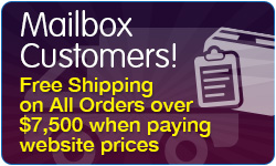 New Customers Free Shipping on all Orders over $5000